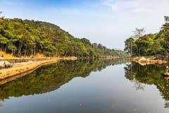 Ezhattumugham är en landsby i det Ernakulam området av Kerala Indien arkivbilder