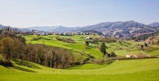 Ezkio. At Gipuzkoa valley an mountains Royalty Free Stock Images
