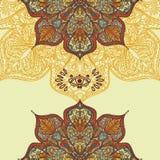 Ezoteryczny plakat z gypsy round wzorem i magicznym okiem royalty ilustracja