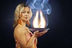 Ezoteryka ogień Fotografia Stock