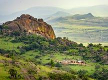 Ezulwinivallei in eSwatini van Swasiland stock afbeelding