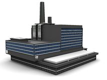 Fábrica stock de ilustración