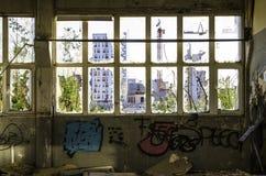 Fábrica abandonada Imagem de Stock Royalty Free