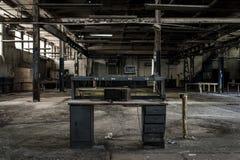 Fábrica abandonada - Balsa Tampão & Parafuso Empresa - Cleveland, Ohio imagem de stock