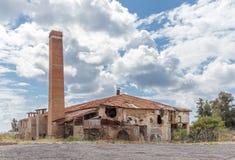 Fábrica abandonada de la teja en Limassol Imagenes de archivo