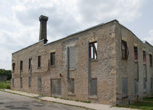 Fábrica abandonada de los muebles en Elora, Canadá Imagenes de archivo