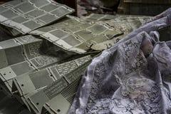Fábrica abandonada do laço - Scranton, Pensilvânia fotografia de stock