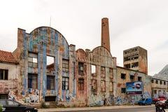 Fábrica abandonada do terremoto Imagem de Stock Royalty Free