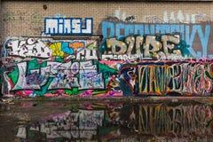 Fábrica abandonada en Maastricht céntrica foto de archivo libre de regalías
