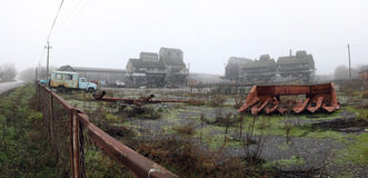 Fábrica abandonada, territorio Fotos de archivo