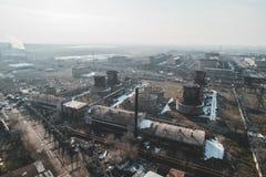 Fábrica abandonada urbana fotos de archivo libres de regalías