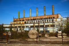 fábrica abandonada velha Fotos de Stock Royalty Free