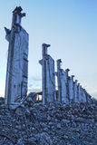 Fábrica abandonada velha no Polônia Fotografia de Stock Royalty Free