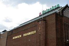 Fábrica Amsterdão de Heineken Fotografia de Stock