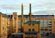 Fábrica, arquitetura de um tijolo Fotos de Stock Royalty Free