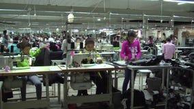 Fábrica asiática da indústria de vestuário: A WS filtra o assoalho da produção filme