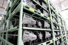 Fábrica auto de los motores Imagen de archivo libre de regalías