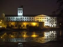 Fábrica blanca en Lodz Fotografía de archivo libre de regalías