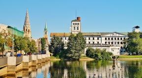 Fábrica blanca, museo central de materias textiles, Lodz, Po Imagenes de archivo