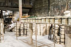 Fábrica cerâmica dos moldes Fotos de Stock Royalty Free