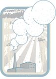 Fábrica com chaminé de fumo ilustração do vetor