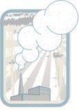 Fábrica con la chimenea que fuma ilustración del vector