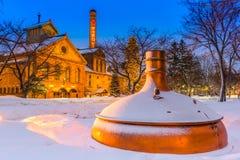 Fábrica da cerveja de Sapporo foto de stock royalty free