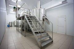 Fábrica da cervejaria Imagem de Stock Royalty Free