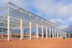 Fábrica da construção incompleta Foto de Stock