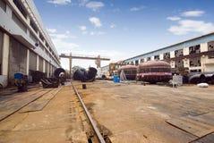 Fábrica da fabricação da maquinaria Fotografia de Stock Royalty Free