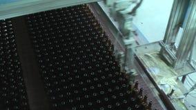 Fábrica da garrafa de vidro em Tyumen Rússia vídeos de arquivo