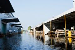 Fábrica da inundação em Nava Nakorn Tailândia industrial Foto de Stock
