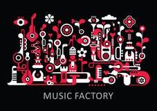 Fábrica da música Foto de Stock