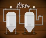 fábrica da produção da cerveja da cervejaria Fotografia de Stock Royalty Free