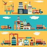 Fábrica da produção de petróleo Imagens de Stock Royalty Free