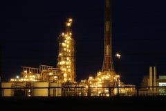 Fábrica da refinação de petróleo Imagem de Stock Royalty Free