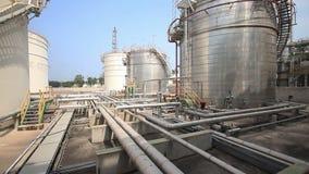 Fábrica da refinação, exploração agrícola de tanque filme