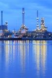 Fábrica da refinaria de petróleo Imagem de Stock