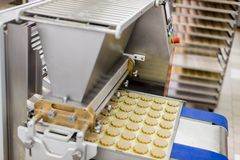 Fábrica das cookies Imagem de Stock Royalty Free