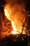 Fábrica de aço Imagens de Stock