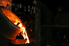 Fábrica de aço Foto de Stock