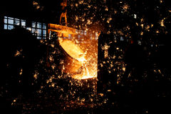 Fábrica de aço Imagem de Stock
