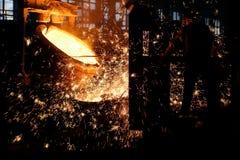 Fábrica de aço Fotografia de Stock Royalty Free