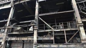 Fábrica de aço abandonada video estoque