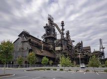 Fábrica de aço ainda que está no PA de Bethlehem imagem de stock