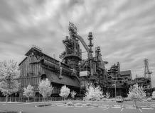 Fábrica de aço ainda que está no PA de Bethlehem fotografia de stock