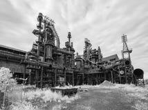 Fábrica de aço ainda que está no PA de Bethlehem fotos de stock