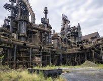 Fábrica de aço ainda que está no PA de Bethlehem imagens de stock