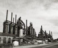 Fábrica de aço ainda que está no PA de Bethlehem foto de stock