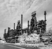 Fábrica de aço ainda que está no PA de Bethlehem fotografia de stock royalty free